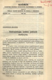 Kosmos. Serja B, 1938, R. 63, z. 1