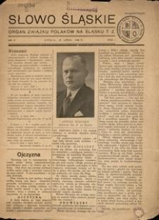 Słowo Śląskie, 1936, R. 1, Nr. 5