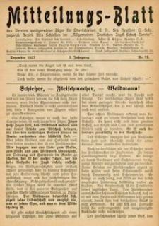 Mitteilungsblatt des Vereins Waidgerechter Jäger für Oberschlesien Jg. 2, Nr. 12