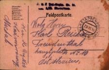 Korespondencja z dnia 29 listopada 1916 roku.
