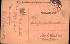 Korespondencja z dnia 17 października 1917 roku.