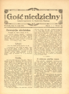 Gość Niedzielny, 1921, R. 1, nr 12