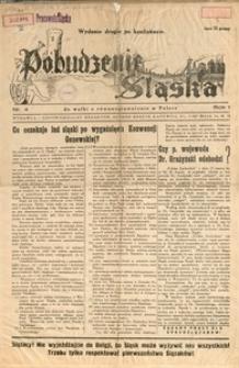 Pobudzenie Śląska do Walki o Równouprawnienie w Polsce, 1937, R. 1, nr 4