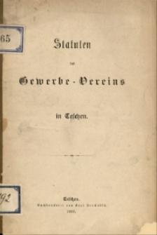 Statuten des Gewerbe-Vereins in Teschen, 1883
