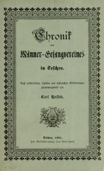 Chronik des Männer-Gesangsvereines in Teschen