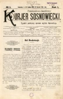 Przemysłowo-Handlowy Kurjer Sosnowiecki, 1901, R. 1, No 1