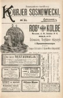 Przemysłowo-Handlowy Kurjer Sosnowiecki, 1901, R. 1, No 24