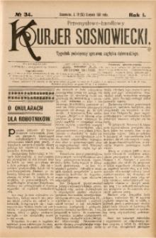 Przemysłowo-Handlowy Kurjer Sosnowiecki, 1901, R. 1, No 34