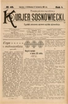 Przemysłowo-Handlowy Kurjer Sosnowiecki, 1901, R. 1, No 40