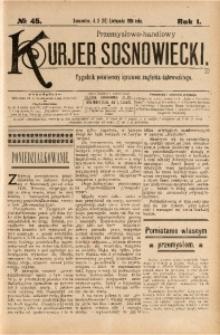 Przemysłowo-Handlowy Kurjer Sosnowiecki, 1901, R. 1, No 45