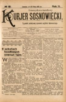 Przemysłowo-Handlowy Kurjer Sosnowiecki, 1902, R. 2, No 12