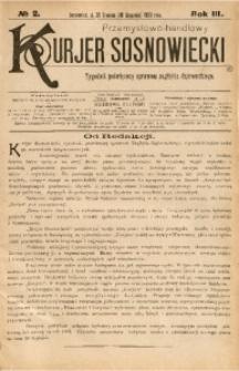 Przemysłowo-Handlowy Kurjer Sosnowiecki, 1903, R. 3, No 2
