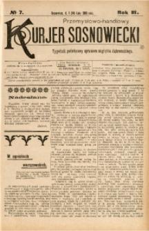 Przemysłowo-Handlowy Kurjer Sosnowiecki, 1903, R. 3, No 7