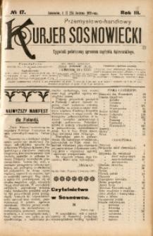 Przemysłowo-Handlowy Kurjer Sosnowiecki, 1903, R. 3, No 17