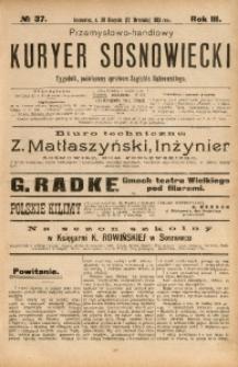 Przemysłowo-Handlowy Kurjer Sosnowiecki, 1903, R. 3, No 37