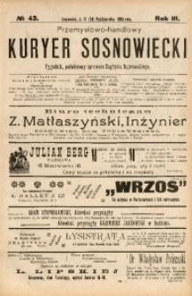 Przemysłowo-Handlowy Kurjer Sosnowiecki, 1903, R. 3, No 43
