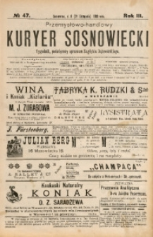Przemysłowo-Handlowy Kurjer Sosnowiecki, 1903, R. 3, No 47