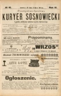 Przemysłowo-Handlowy Kurjer Sosnowiecki, 1904, R. 4, No 10