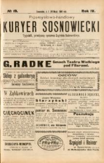 Przemysłowo-Handlowy Kurjer Sosnowiecki, 1904, R. 4, No 19