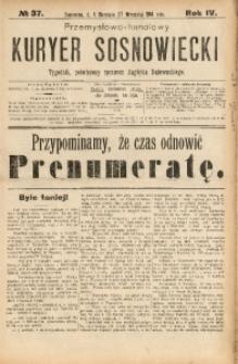 Przemysłowo-Handlowy Kurjer Sosnowiecki, 1904, R. 4, No 37