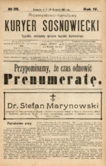Przemysłowo-Handlowy Kurjer Sosnowiecki, 1904, R. 4, No 38