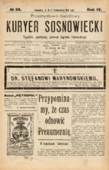 Przemysłowo-Handlowy Kurjer Sosnowiecki, 1904, R. 4, No 39