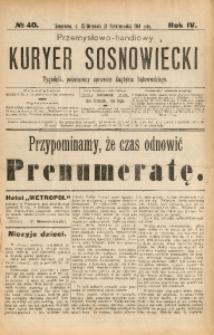 Przemysłowo-Handlowy Kurjer Sosnowiecki, 1904, R. 4, No 40