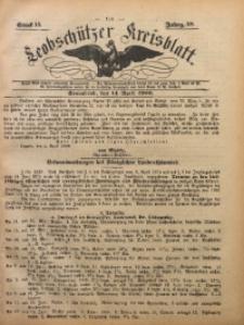 Leobschützer Kreisblatt, 1900, Jg. 59, St. 15