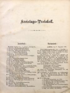 Kreistags-Protokoll, 21.12.1903