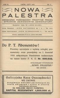 Nowa Palestra, 1935, R. 3, nr 2