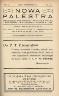 Nowa Palestra, 1935, R. 3, nr 10