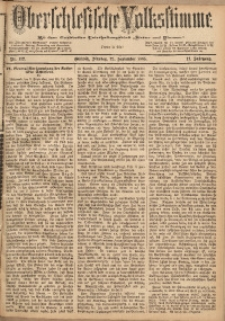 Oberschlesische Volksstimme, 1885, Jg. 11, Nr. 112