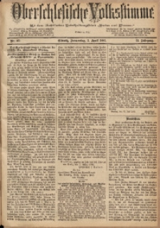 Oberschlesische Volksstimme, 1885, Jg. 11, Nr. 40