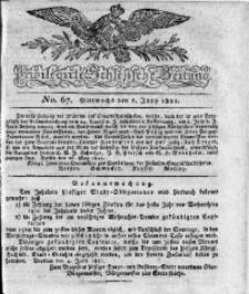 Privilegirte Schlesische Zeitung, 1821, No. 67