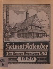 Heimat-Kalender des Kreises Rosenberg Oberschl., 1929