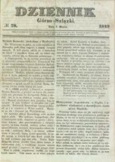 Dziennik Górno-Szlązki, 1849, nr 78