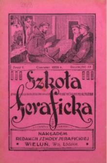 Szkoła Seraficka, 1928, R. 3, Z. 6