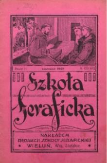 Szkoła Seraficka, 1928, R. 3, Z. 11