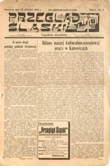 Przegląd Śląski. Tygodnik Niezależny, 1928, R. 1, nr 3