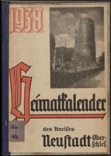 Blücher-Kalender, der Heimatkalender des Kreises Neustadt (Oberschl.), 1938