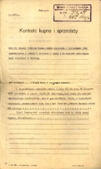 Kontrakt kupna i sprzedaży z 1929 roku.
