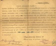 Dekret przyznania spadku z dnia 18 grudnia 1922 roku.