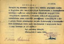 Uchwała Sądu Powiatowego z dnia 6 marca 1922 roku.
