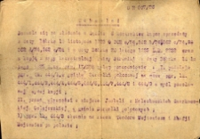 Uchwała Sądu Powiatowego z dnia 29 lipca 1926 roku.