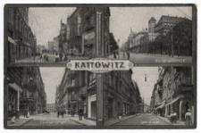 Kattowitz. Grundmannstrasse. Direktionsstrasse. Querstrasse