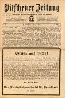 Pitschener Zeitung, 1921, Jg. 10, Nr. 1