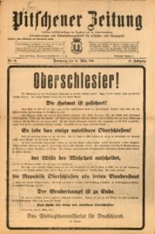 Pitschener Zeitung, 1921, Jg. 10, Nr. 24