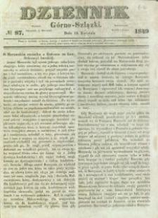 Dziennik Górno-Szlązki, 1849, nr 87