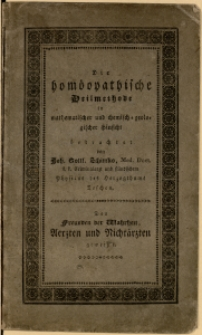 Die homöopatische Heilmethode in mathematischer und chemisch-geologischer Hinsicht, 2. Aufl.