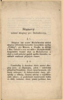 Stanovy místní skupiny pro Michálkovice